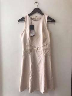 new with tag 4 collective nude shift dress - uk 6 - fits small