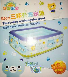 three-ring rectangular pool (180 x 140 x 60cm) SHJ656
