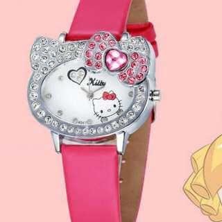 2 in 1 Hello Kitty Fashion Rhinestones Watch