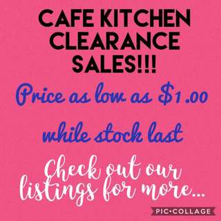 Kitchen clearance sales!!!