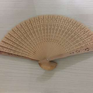Wooden foldable fan - A