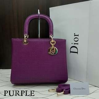 Lady Dior Cannage Purple Color