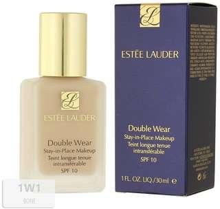 Estee Lauder Double Wear Foundation 1W1 Bone with Pump