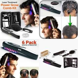 Power Grow Comb - Hairs Growth Therapy Laser Brush - NEW in Box ( Full Set )