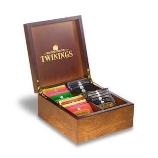 Twinings WOODEN TEA BOX - 4 COMPARTMENT  川寧四格木製茶盒 (連48茶包)