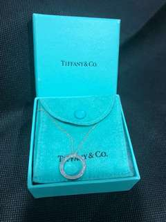 Authentic Tiffany & Co circle pendant Necklace