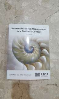 Human Resource in a Business context