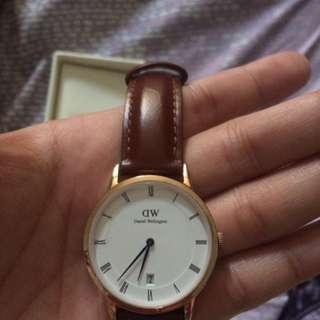 DW leather watch