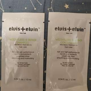 Elvis + elvin shampoo and conditioner