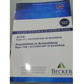 BECKER ACCA Paper F1/FAB (2017)