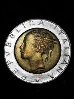 For Sharing Only - 1987 Italy 500 Lira Bi-metallic Coin