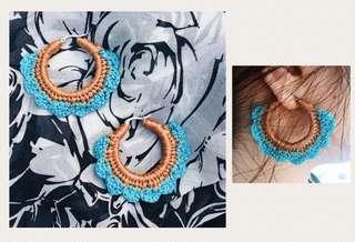 BELLA 1   Handmade Crochet Hoop Earrings