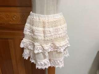 專櫃蕾絲褲裙