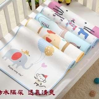 嬰兒 隔尿墊 透氣 防水可洗 超大 寶寶 新生兒 童床 月經期 姨媽小墊子  無螢光劑 活性印染 70*120