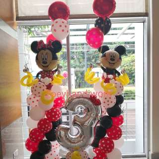 New desogns- Mickey and minnie themed balloon decorations at zoeyhandiwork