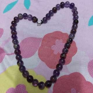 超級能量紫水晶頸鍊配925銀扣
