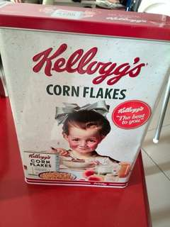 Kellogs cornflakes tin