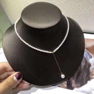 小清新淡水珍珠18k金珠頸鏈🎁母親節女朋友閨蜜生日禮物