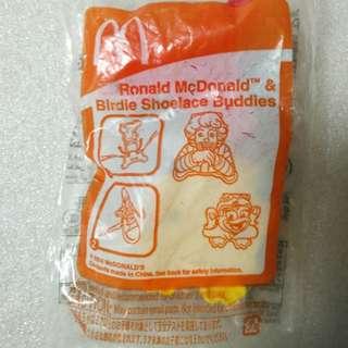McDonald's 麥當勞 2013年 絕版 麥當勞叔叔及小菲菲 鞋帶裝飾扣
