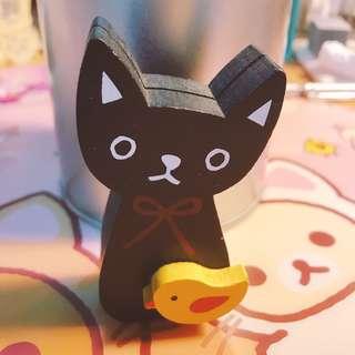 黑貓 日本木製 名片座