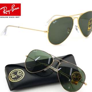 BNWT and Authentic RAY-BAN RB3026 AVIATOR II LARGE - Size 62