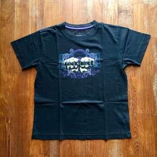"""Old Navy black short-sleeved """"Rock N Roll"""" tee"""