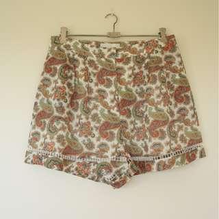 Zimmerman Orange Paisley Shorts sz 3