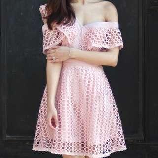 Crochet Off Shoulder Dress