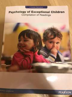 Psychology of exceptional children