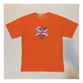 Orange UK Flag Logo T-shirt