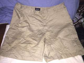 PURITAN beige plus size men cargo walking shorts W42