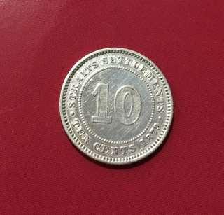 1879H Straits Settlement Coin