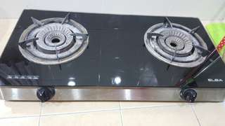 Used Elba Tempered glass Gas Stove