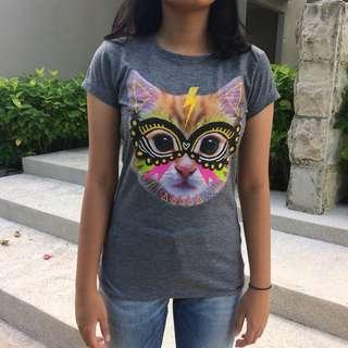 CAT PRINTED T-SHIRT