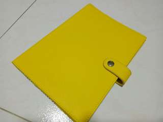 Kikki K A5 Refillable Leather Notebook Cover (Sunshine Yellow) #HariRaya35