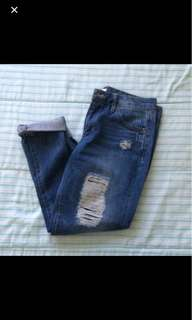 Forever 21 Distressed Jeans Size 26