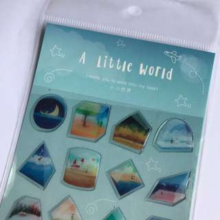 #S008 LITTLE WORLD STICKERS