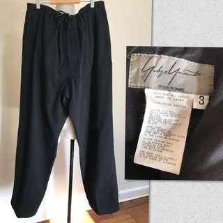 Yohji Yamamoto POUR HOMME black cotton twill pants
