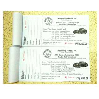 Toyota Vios Raffle Ticket