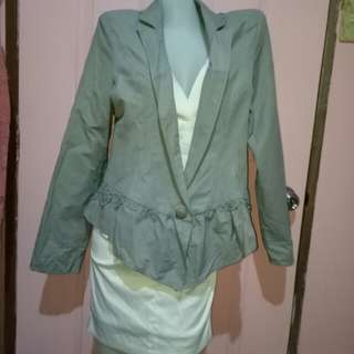 Grey Large Formal Blazer Plus Size
