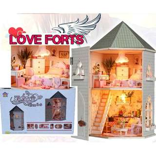 DMH10 DIY Miniature Dollhouse - Love Forts (U.P.$75)
