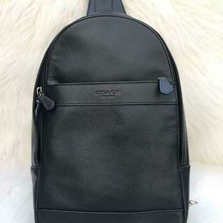 Coach Charles Pack in Smooth Black