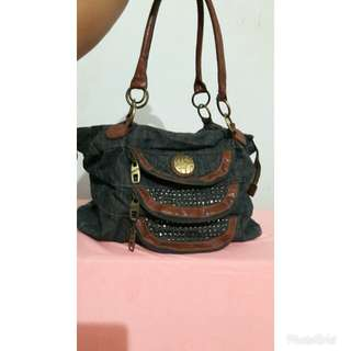 Miss 60. Ukuran 35cm. Bahan denim