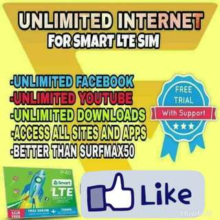 UNLIMITED INTERNET FOR SMART LTE SIM ONLY