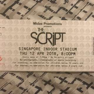 The SCRIPT Concert Tickets