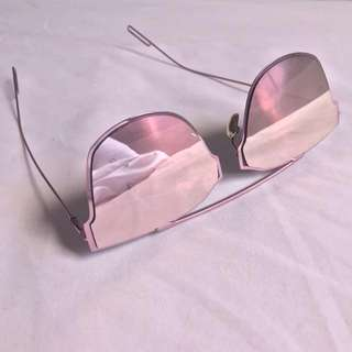 Dior Inspired Pink Mirror Aviators