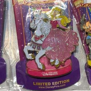 香港 迪士尼 徽章 Disney Pin 旋轉木馬 睡公主