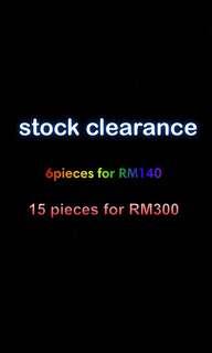 STOCK CLEARANCEE