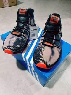 official photos 1d910 4044b Adidas Prophere Rogue  Black Solar Red  Distressed  Bleached