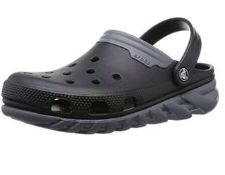 Authentic Crocs Duet Max Clog Unisex in Black/Charcoal